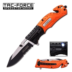 Tac-Force TF-835Em Emt Tactical Rescue Knife With Flashlight | Carry Knives