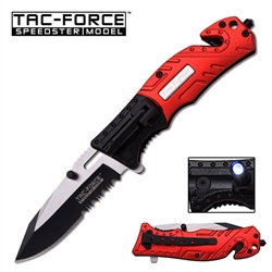 Tac-Force TF-835Fd Fire Department Tactical Rescue Knife With Flashlight | Carry Knives