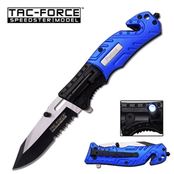 Tac-Force TF-835Pd Police Tactical Rescue Knife With Flashlight | Carry Knives