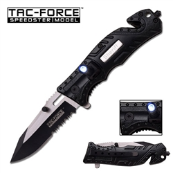 Tac-Force TF-835Sh Sherrif Tactical Rescue Knife With Flashlight | Carry Knives