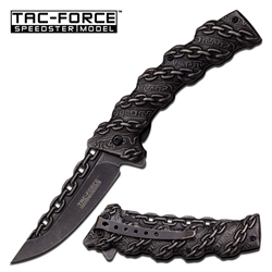 Tac-Force TF-859 Chain Link Fantasy Spring Assisted Folding Knife | Carry Knives