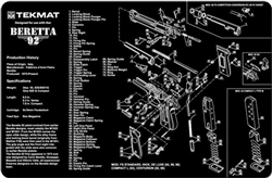 TekMAT Gun Cleaning and Maintenance Mat for Beretta 92, 92, M9