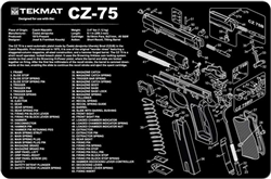 TekMAT Gun Cleaning and Maintenance Mat for CZ-75