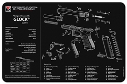 Tekmat Universal Gun Cleaning And Maintenance Mat For Glock Gen 4
