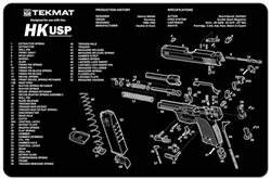 TekMAT Gun Cleaning and Maintenance Mat for HK-USP