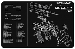 TekMAT Gun Cleaning and Maintenance Mat for Sig Sauer P220