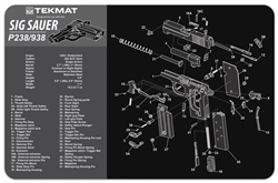 Tekmat For Sig Sauer P238 P938 | Gun Cleaning And Maintenance Supplies