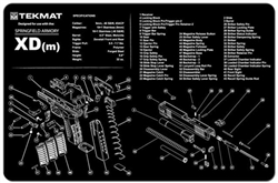TekMAT Gun Cleaning and Maintenance Mat for Springfield XD-M