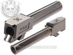 True Precision Glock 19 Non Threaded Stealth Grey Barrel X Fluted