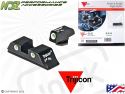Trijicon Green 3 Dot HD Night Sight Set for Glock 17 19 26 27 33 34
