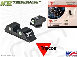 Trijicon Green 3 Dot HD Night Sight Set for Glock 20 21 21SF 29 30 31 32 36 37