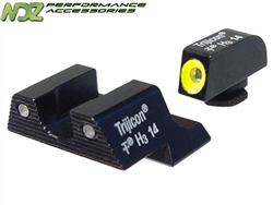 Trijicon Yellow 3 Dot HD Night Sight Set for Glock 42 43