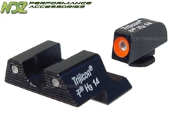 Trijicon Orange 3 Dot HD Night Sight Set for Glock 42 43