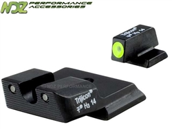 Trijicon Smith & Wesson Shield 3 Dot HD Night Sights Yellow