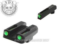 TruGlo Green Rear Sight Sight Set for Glock 42 43