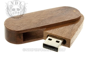 NDZ 16 Gigabyte USB Flash Drive Black Walnut