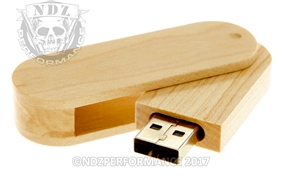 NDZ 16 Gigabyte USB Flash Drive Maple Wood