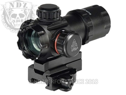 "Leapers UTG ITA Red - Green Dot Sight 3.9"" 4 MOA QD Mount SCP-DS3039W"