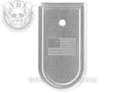 NDZ XDS .45 Mag Plate US Flag Silver
