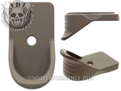 NDZ Gun Kote FDE Magazine Plate Finger Extension for Springfield Armory XD-S