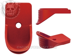 NDZ Red Magazine Plate Finger Extension for Springfield Armory XD-S (*LZ)