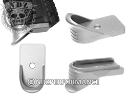 NDZ Silver Magazine Plate Finger Extension for Springfield Armory XD-S (*LZ)