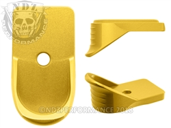NDZ Gold Magazine Plate Finger Extension for Springfield Armory XD-S (*LZ)