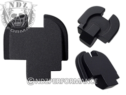 Customizable NDZ Black Rear Plate for Springfield Armory XD-S
