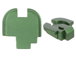 NDZ Green Rear Plate for Springfield Armory XD-S (*LZ)