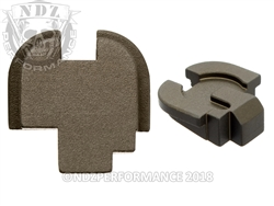 Customizable NDZ HC FDE Rear Plate for Springfield Armory XD-S