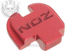 Red Springfield XD-S Rear Slide Plate NDZ Inv