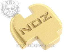 Gold Springfield XD-S Rear Slide Plate NDZ Inv