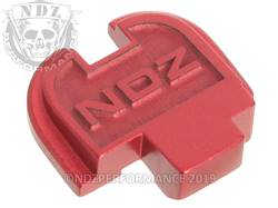 Red Springfield XD-S Rear Slide Plate NDZ