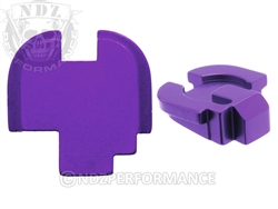 NDZ Purple Rear Plate for Springfield Armory XD-S (*LZ)