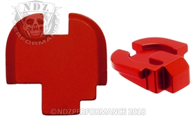 NDZ Red Rear Plate for Springfield Armory XD-S (*LZ)