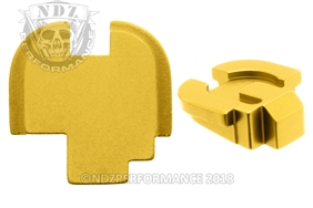NDZ Gold Rear Plate for Springfield Armory XD-S (*LZ)