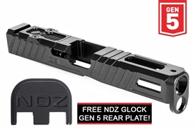 Zev Z17 Omen Stripped Slide for Glock 17 Gen 5 with RMR Plate Black (Free NDZ Slide Plate) (*LZ)