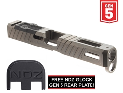 Zev Z17 OMEN Stripped Slide for Glock Gen 5 with RMR Plate Gray (Free NDZ Slide Plate) (*LZ)