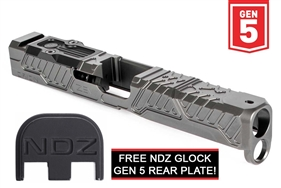 Zev Z17 Orion Stripped Slide for Glock Gen 5 with RMR Plate Gray (Free NDZ Slide Plate) (*LZ)