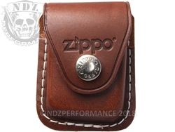 Zippo Lighter Pouch Brown With Belt Clip