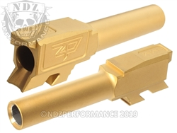 Zaffiri Precision Glock 43 Barrel Flush & Crown Gold Nitride