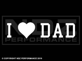 1597  -  Fathers Day I Heart Dad Solid