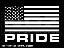 675 - US Flag Pride Text